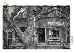 Luckenbach 2 Black And White Carry-all Pouch