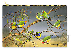 Lucky Seven - Gouldian Finches Carry-all Pouch