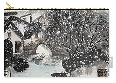 Carry-all Pouch featuring the painting Lucky Snow  by Yufeng Wang