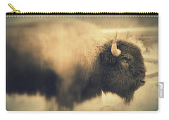Carry-all Pouch featuring the photograph Lucky Yellowstone Buffalo by Lynn Sprowl