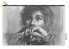 Carry-all Pouch featuring the drawing Lucy by Paul Davenport