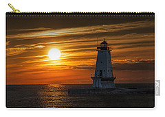 Ludington Pier Lighthead At Sunset Carry-all Pouch
