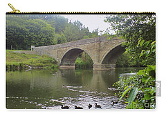 Carry-all Pouch featuring the photograph Ludlow Bridge by John Williams