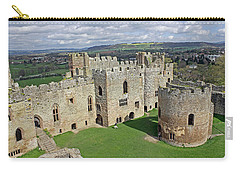 Ludlow Castle Chapel And Great Hall Carry-all Pouch by Tony Murtagh