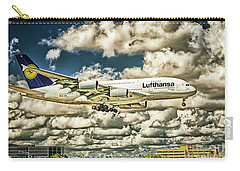 Lost In The Clouds Lufthansa A380 Named Hamburg-colorized Abstract Carry-all Pouch