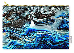Carry-all Pouch featuring the digital art Lumenittoral by Richard Thomas