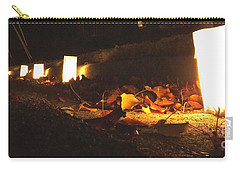 Carry-all Pouch featuring the photograph Luminaries by Andrea Anderegg