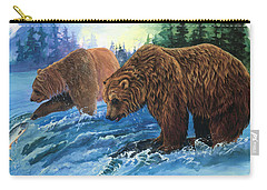 Carry-all Pouch featuring the painting Lunch Break by Sherry Shipley