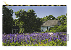 Lupine Flowers Near Round Pond Maine Carry-all Pouch by Keith Webber Jr