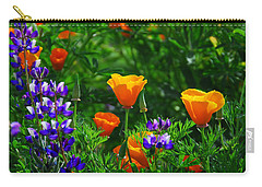 Lupines And Poppies Carry-all Pouch by Lynn Bauer