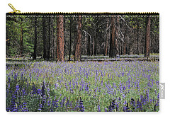 Carry-all Pouch featuring the photograph Lupines In Yosemite Valley by Lynn Bauer