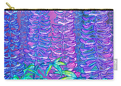 Carry-all Pouch featuring the mixed media Lupines by Teresa Ascone