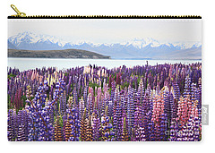 Carry-all Pouch featuring the photograph Lupins At Tekapo by Nareeta Martin