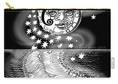 Carry-all Pouch featuring the digital art Lure Of Moonlight by Carol Jacobs