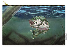 Carry-all Pouch featuring the painting Lured In by Jason Girard