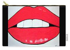 Carry-all Pouch featuring the painting Luscious Lips by Nora Shepley