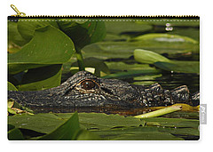 Carry-all Pouch featuring the photograph Lying In Wait by Vivian Christopher