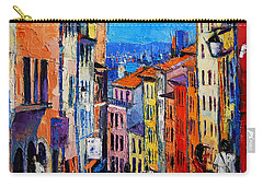 Lyon Colorful Cityscape Carry-all Pouch
