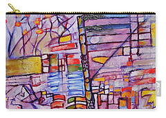 Carry-all Pouch featuring the painting Lysergic Descriptions by Jason Williamson