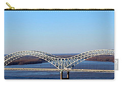 Carry-all Pouch featuring the photograph M Bridge Memphis Tennessee by Barbara Chichester