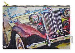 Carry-all Pouch featuring the painting M G Car  by Anna Ruzsan