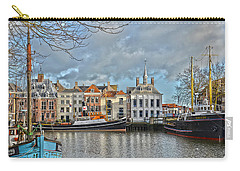 Carry-all Pouch featuring the photograph Maassluis Harbour by Frans Blok
