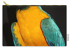 Macaw Hanging Out Carry-all Pouch by John Telfer