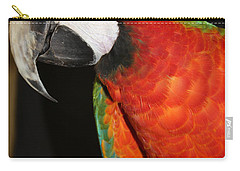 Carry-all Pouch featuring the photograph Macaw Profile by John Telfer