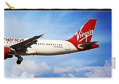 Carry-all Pouch featuring the photograph Virgin America Mach Daddy - Rare by Aaron Berg