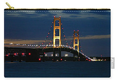 Mackinac Bridge At Dusk Carry-all Pouch