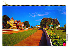 Carry-all Pouch featuring the photograph Mackinac Island Flower Garden  by Tom Jelen