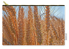 Carry-all Pouch featuring the photograph Macro Of Wheat Art Prints by Valerie Garner