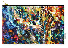 Mad Jazz Carry-all Pouch by Leonid Afremov