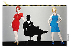 Mad Men In Technicolor Carry-all Pouch