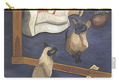 Carry-all Pouch featuring the painting Made In China by Karen Zuk Rosenblatt