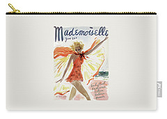 Mademoiselle Cover Featuring A Model At The Beach Carry-all Pouch