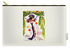 Mademoiselle Cover Featuring A Model Wearing Carry-all Pouch