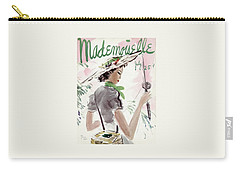 Mademoiselle Cover Featuring A Woman Holding Carry-all Pouch