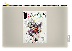 Mademoiselle Cover Featuring An Illustration Carry-all Pouch