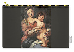 Carry-all Pouch featuring the painting Madona And Child by Mukta Gupta