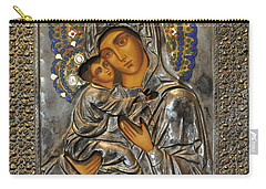 Madonna And Child Carry-all Pouch by Jay Milo