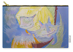 Carry-all Pouch featuring the painting Madonna With A Cat by Marina Gnetetsky