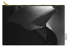 Madrona Bark Black And White Carry-all Pouch