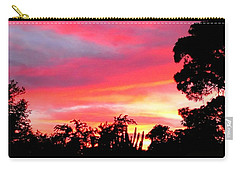 Carry-all Pouch featuring the photograph Magenta Sunset by DigiArt Diaries by Vicky B Fuller