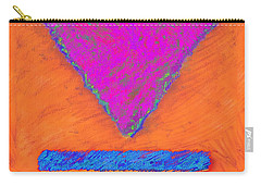 Magenta Triangle On Orange Carry-all Pouch