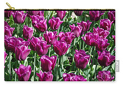 Carry-all Pouch featuring the photograph Magenta Tulips by Allen Beatty
