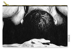 Carry-all Pouch featuring the drawing Maggette by Tamir Barkan