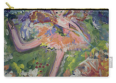 Carry-all Pouch featuring the painting Magical Maggie The Fairy by Judith Desrosiers