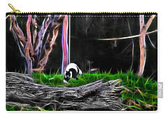 Walk In Magical Land Of The Black And White Ruffed Lemur Carry-all Pouch