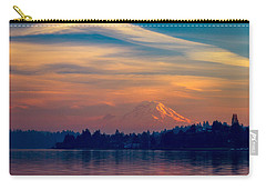 Carry-all Pouch featuring the photograph Magical Sunset At The Lake by Ken Stanback